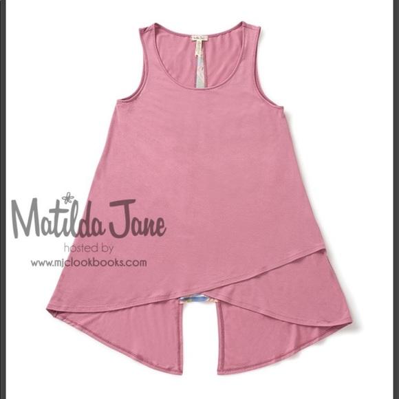 Matilda Jane size XL Secret Garden Tank- EUC